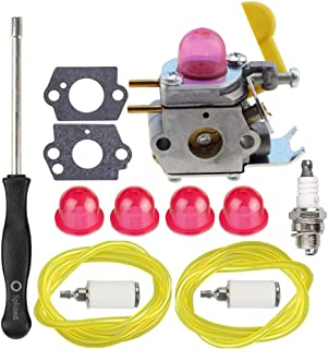 HIPA Carburetor + Tune Up Kit Spark Plug for Craftsman Poulan Weedeater MX550 MX557 P1500 P2500 P3500 TE475 TE475Y XT260 XT700 String Trimmer Brushcutter