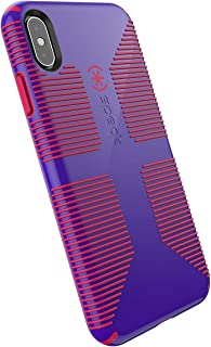 Speck Products CandyShell Grip iPhone Xs Max Case, Ultraviolet Purple/Ruby Red