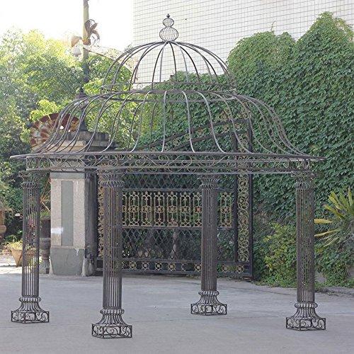 Großer Park-Pavillon Rost-Patina handgeschmiedetes Dach