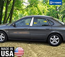 Made in USA! Works with 1997-2004 Ford Taurus 6 PC Stainless Steel Chrome Pillar Post Trim