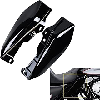 ECLEAR 1 Set Mid-Frame Air Deflectors, Fairing Side Cover Shield for Harley Touring Street Road Tri Glide 2009-2016 - Black