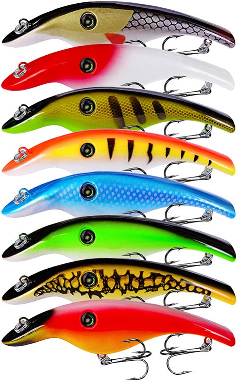 Generic Fishing Lures 8pcs Lot Fishing Hard Baits 15cm 46.5g Plastic Pencil Lures with 1 0  Triple Hooks
