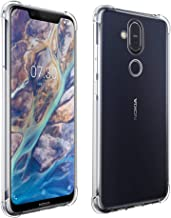 Qoosea Compatible with Nokia X7 Case Cover Clear Case for Nokia 8.1 Cover Nokia 8.1 Transparent Soft Case for Nokia X7