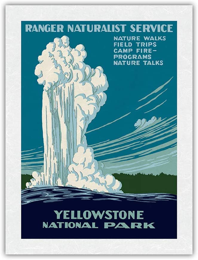 Yellowstone National Park - Old Geyser Ranger Max 72% OFF Natural Gorgeous Faithful
