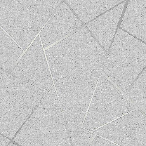 Fine Decor Wallcoverings FD42280 Fractal-Quarz, Silber