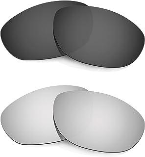 HKUCO Plus Mens Replacement Lenses For Oakley Monster Dog Black/Titanium Sunglasses