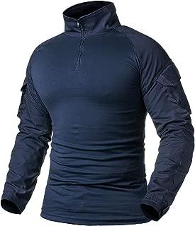 ReFire Gear Men's Military Tactical Army Combat Long/Short Sleeve Shirt Slim Fit Camo T-Shirt with 1/4 Zipper