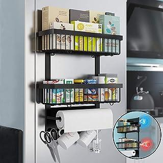 RACK DE STOCKAGE Réfrigérateur magnétique Spice Rack Organisateur Support de rangement Cuisine 2 Tier Multi usage Cuisine ...
