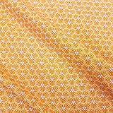 Werthers Stoffe Stoff Baumwollstoff Meterware gelb Safran