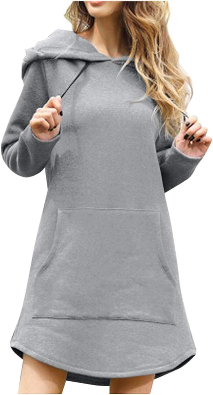 Hotkey Women's Fashion Hoodies Long Pullover Sale Popularity Sleeve Pocket Draws