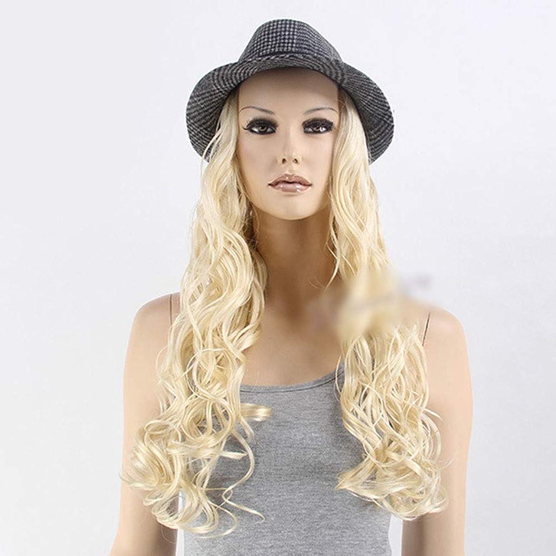 アンタゴニストスラッシュリーYrattary ライトゴールドロングカーリーヘアーかつらコスプレ合成かつら前髪付きかつらロールウィッグロールプレイングかつら (色 : Light blonde)