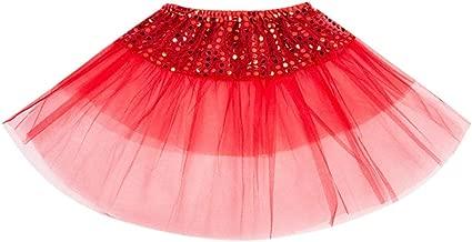 aihihe Tutus for Girls Multicolor Tutu Skirts 3 Layer Ballet Tutus Sequin Skirt Birthday Party Princess Dress Up