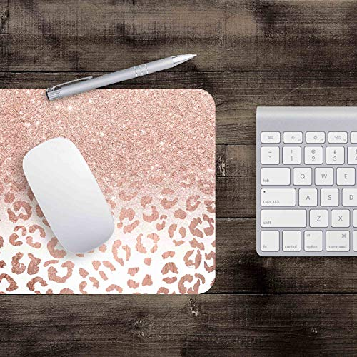Pink Leopard Star Pattern Mouse Pad Desktop Decoration Personalized Custom Mouse Pad Non-Slip Rubber Mousepad 9.5 X 7.9 Inch Photo #4