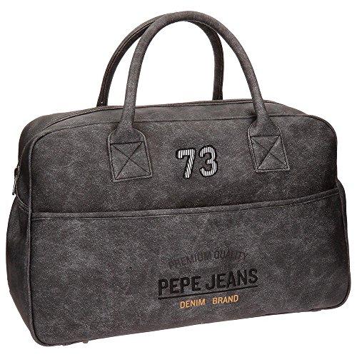 Pepe Jeans Jack Bolsa de Viaje, 50 cm, 30.4 litros, Gris