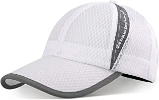ELLEWIN Mesh Baseball Cap Quick Dry Cooling Sun Hat Unstructured Portable Sports Cap for Hiking Golf Running Tennis