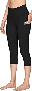 High Waist Yoga Pants for Women, Tummy Control Yoga Workout Capris with Pockets, Capris Leggings for Women