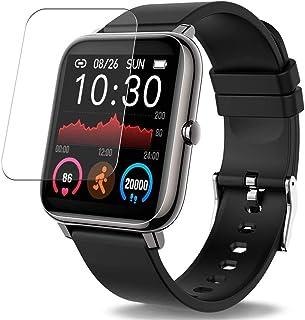 Vaxson 3-pack skärmskydd, kompatibel med Donerton P22 P25 smartwatch smartklocka, TPU skyddsfilm skydd klistermärke [INTE ...