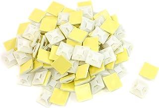 uxcell 配線止めホルダー ケーブル収束吸盤 ケーブルホルダー コード止め プラスチック製 100個セット 直径2mm用 白色