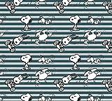 Fabrilogy Bio Jersey Snoopy Streifen, grau/ab 50