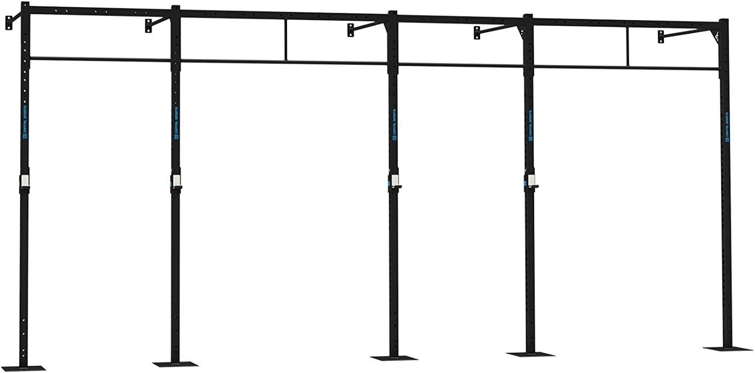Capital Sports Dominate W 580.150 Wall Mount Wandmontage Power Rack Gym Rig Cross-Training Functional-Training Double-Bar Single-Bar Klimmzugstange 407 x 270 x 150 cm Stahl schwarz