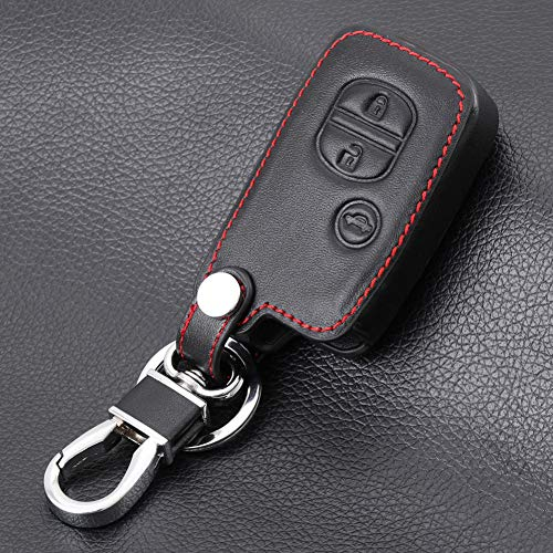 WASHZD Leather Car Key Case Cover,For Toyota Land Cruiser Prado 150 Camry Prius Crown,For Subaru 2013 2014 Foreste Outback XV legacy