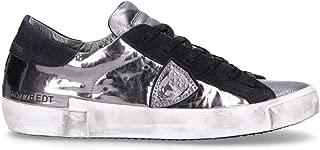 Philippe Model Luxury Fashion Womens PRLDMS01 Silver Sneakers | Fall Winter 19