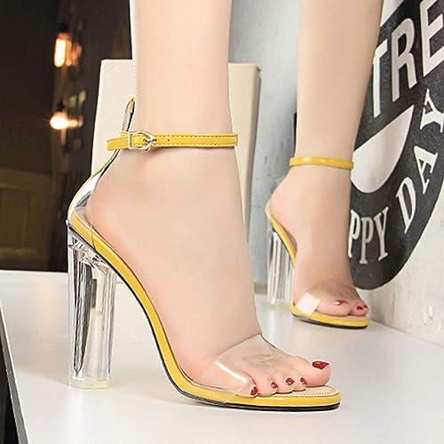 XSY Chaussures Chaussures à Talons pour Femmes Escarpins à Talons Hauts Chaussures Femmes Chaussures à Talons Transparents Chaussures De Bureau pour Femme  en bonne santé