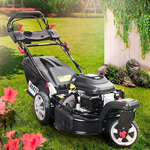 BRAST Benzin Rasenmäher Trike 5,2kW(7PS) variabler Radantrieb 53cm Schnittbreite 224ccm Stahlgehäuse 60L Fangkorb 4-Takt Motor TÜV