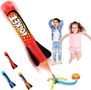 Duckura Jump Rocket Launchers for Kids, Outdoor Play with 3 Rockets, Gift for Boys Girls Toddlers 3 Years Old and Up