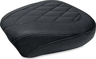 Mustang 76705 Wide Tripper Forward Passenger Motorcycle Seat with Diamond Stitching for Harley-Davidson Dyna 2006-17, Black