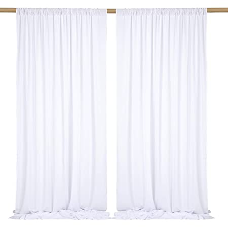 Red 1191 Trade Show Drape 10x10 Drape Decoration Backdrop Drapes Backdrop Curtain Panels Photography Backdrop Urquid Linen 100/% Polyester and Wrinkle Resistant for Wedding Drapes