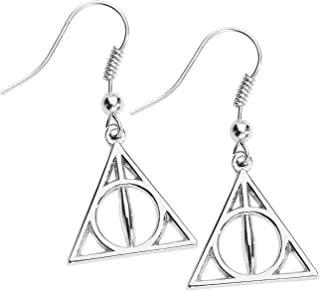 HARRY POTTER Deathly Hallows Mujer Pendientes,