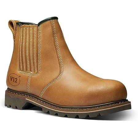 V12 Stampede, Vintage Leather Safety Dealer, Tan, 6 UK (39 EU)