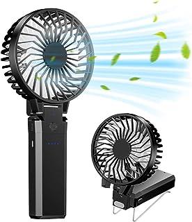 携帯扇風機 Fohil 2020年最新改良 モデルハンディ扇風機 USB充電 手持ち式 5200mAhモバイルバッテリー 6枚羽根 6段風量調節 最大28時間動作 静音 持ち運びに便利 熱中症 暑さ対策 オフィス スポーツ観戦 花火大会 取扱説...