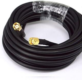 BOOBRIE Cable SMA Macho Macho Cable RG58 5M Baja Pérdida Cable de Extensión SMA Macho a SMA Macho 50 ohmio para Antena GPS...