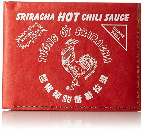 mighty wallet Men's Leather Billfold Wallet, Sriracha, One Size