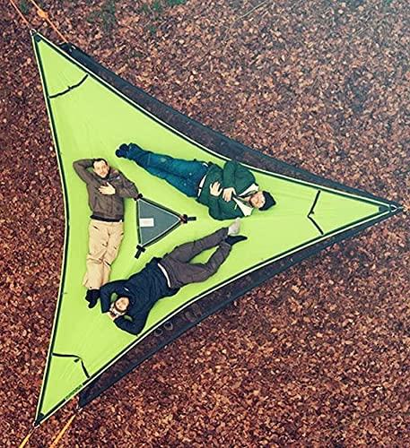 WENTING - Hamaca portátil para Acampar aérea Gigante - Tienda de campaña para el Cielo de la casa del árbol de Alta Resistencia - Hamaca Triangular de Malla de Lona - Fácil de Poner para ACA
