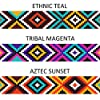 "CollarDirect Aztec Dog Collar Adjustable Nylon Tribal Pattern Geometric Pet Collars for Dogs Small Medium Large Puppy (Aztec Sunset, Neck Fit 18""-26"") #1"