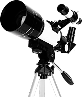 with Phone Mount Starfinder 90°Zenith Mirror,Adults 70mm Astronomical Refractor Hd Telescopes Monocular,with Tripod,for In...