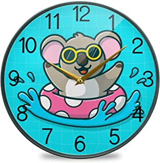 Chovy 掛け時計 サイレント 連続秒針 壁掛け時計 インテリア 置き時計 北欧 おしゃれ かわいい コアラ 青 ブルー 可愛い かわいい 部屋装飾 子供部屋 プレゼント