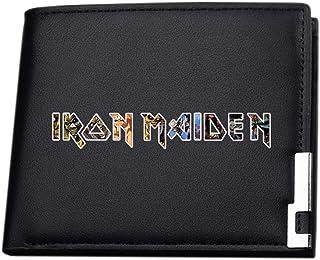 Iron Maiden Portefeuilles légère Impression Handsome Porte-Monnaie Trendy Conception Bifold Carte Cuir Paquet Porte-Monnai...