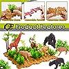 Buyger 58 Pezzi Figure Animali Giocattolo con 13 Selvaggio Giungla Animali E Tappetino da Gioco, Regalo per Bambini 3 4 5 Anni #1