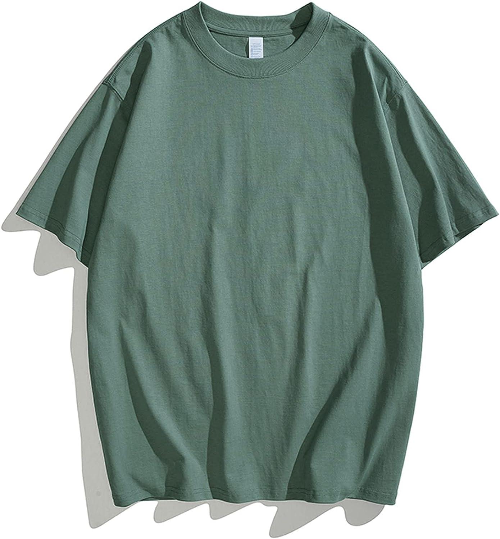 Regular Fit T-Shirt for Men, Solid Short Sleeve Crew Neck Gym Workout Athletic Shirt