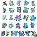 AILANDA 26pcs Parches de Letras Aplicados con Plancha Parches de Alfabeto de Coser Parches para bricolaje costura bolsas ropa sombreros