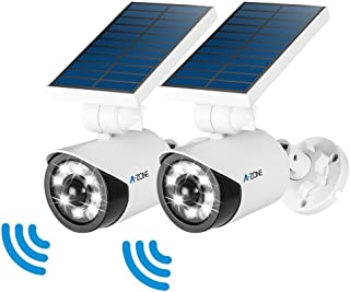 Solar Motion Sensor Light Outdoor - 800Lumens 8 LED Spotlight 5-Watt Solar Lights Outdoor IP66 Waterproof, Wireless Solar Flood Light for Porch Garden Patio Driveway Pathway,Plastic,Pack of 2 (White)