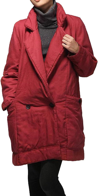 Kelanapparel half Women's Custom Made Casual Warm Coat Opening large release sale Jacket K Linen