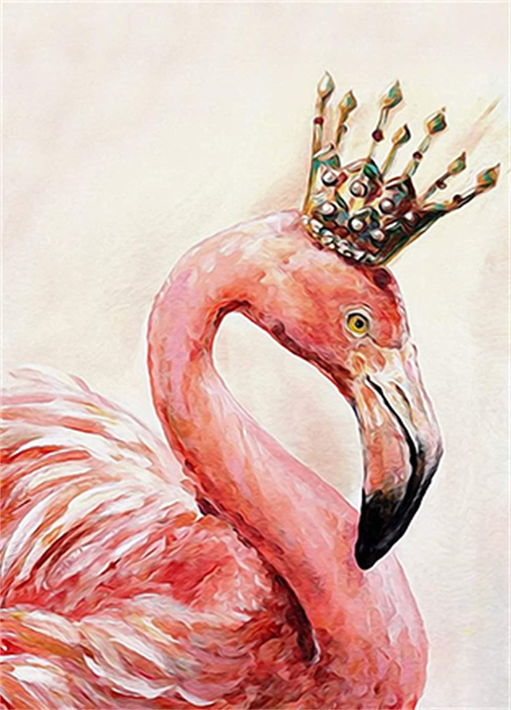 5D Diamond Painting Kits for Adults Full Drill- Diamond Art Kits for Beginners and Students with Adults' Paint-by-Number Kits for Wall Decoration, Gift, Relax (Flamingo) ttuizimzd