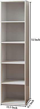 Aart Store Book Shelf Bookcase Space, Bookcase, Books Holder for Home Decor and Office (White)