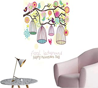 Wall Decoration Wall Stickers Freedom Concept Birds are Free Print Artwork,20
