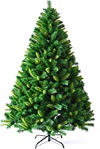 Green Christmas Trees,with Colorful LEDs and Metal Stand Artificial Christmas Tree,for Xmas Natural Branches Traditional D...